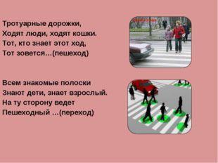 Тротуарные дорожки, Ходят люди, ходят кошки. Тот, кто знает этот ход, Тот зов