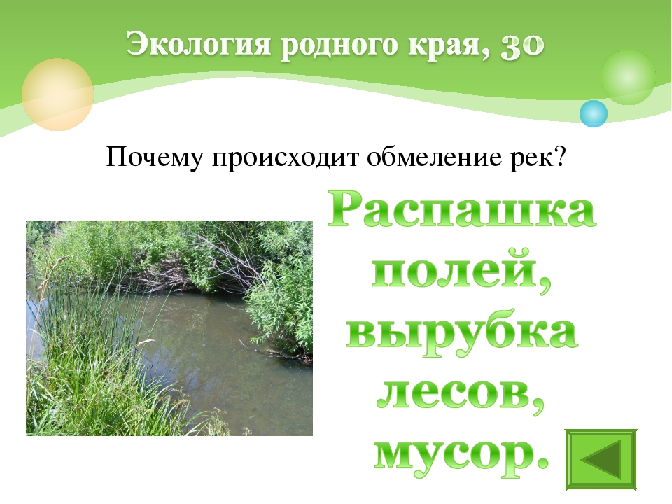 Почему происходит обмеление рек?