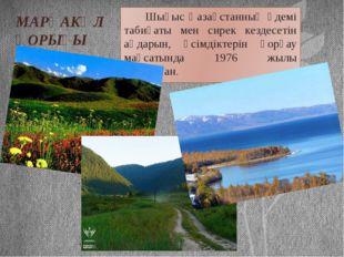 МАРҚАКӨЛ ҚОРЫҒЫ Шығыс Қазақстанның әдемі табиғаты мен сирек кездесетін аңдары