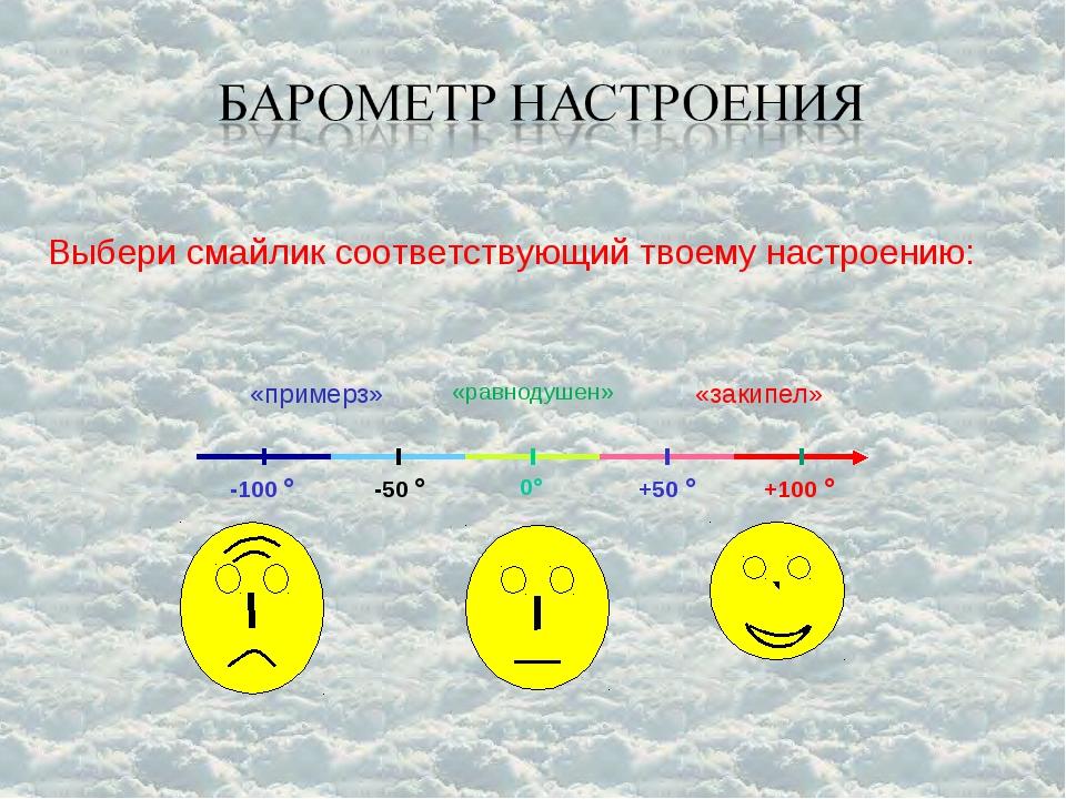 Выбери смайлик соответствующий твоему настроению: 0 -50  -100  +50  +100...