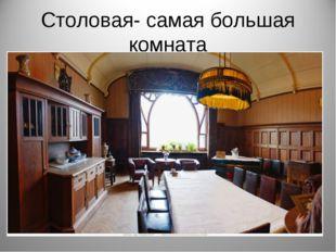 Столовая- самая большая комната