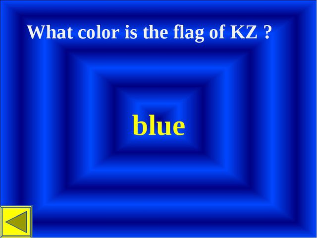 What color іs the flag of KZ ? blue