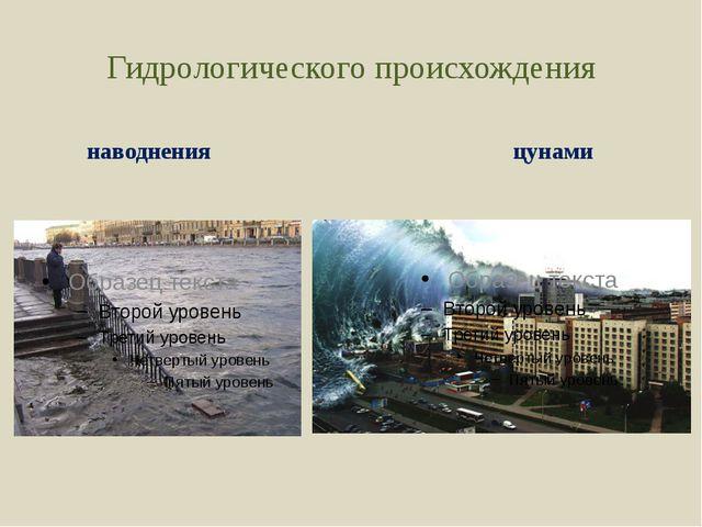 Гидрологического происхождения наводнения цунами
