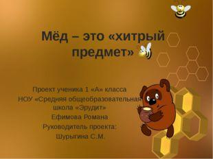 Мёд – это «хитрый предмет» Проект ученика 1 «А» класса НОУ «Средняя общеобраз