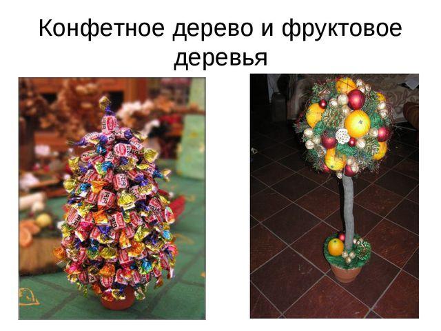 Конфетное дерево и фруктовое деревья
