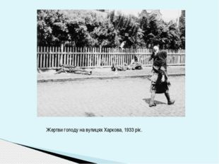 Жертви голоду на вулицях Харкова, 1933 рік.