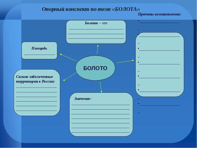 Сильно заболоченные территории в России: ____________________________________...