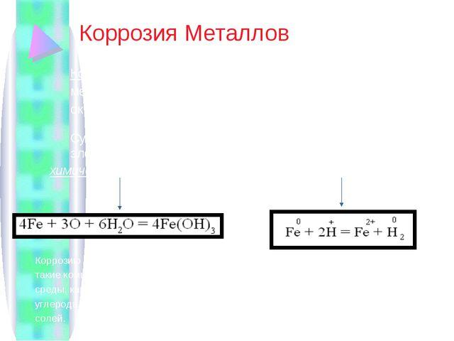 Коррозия Металлов Коррозия – это химическое и электрохимическое разрушение м...