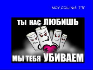 """МОУ СОШ №5 7""""В"""""""