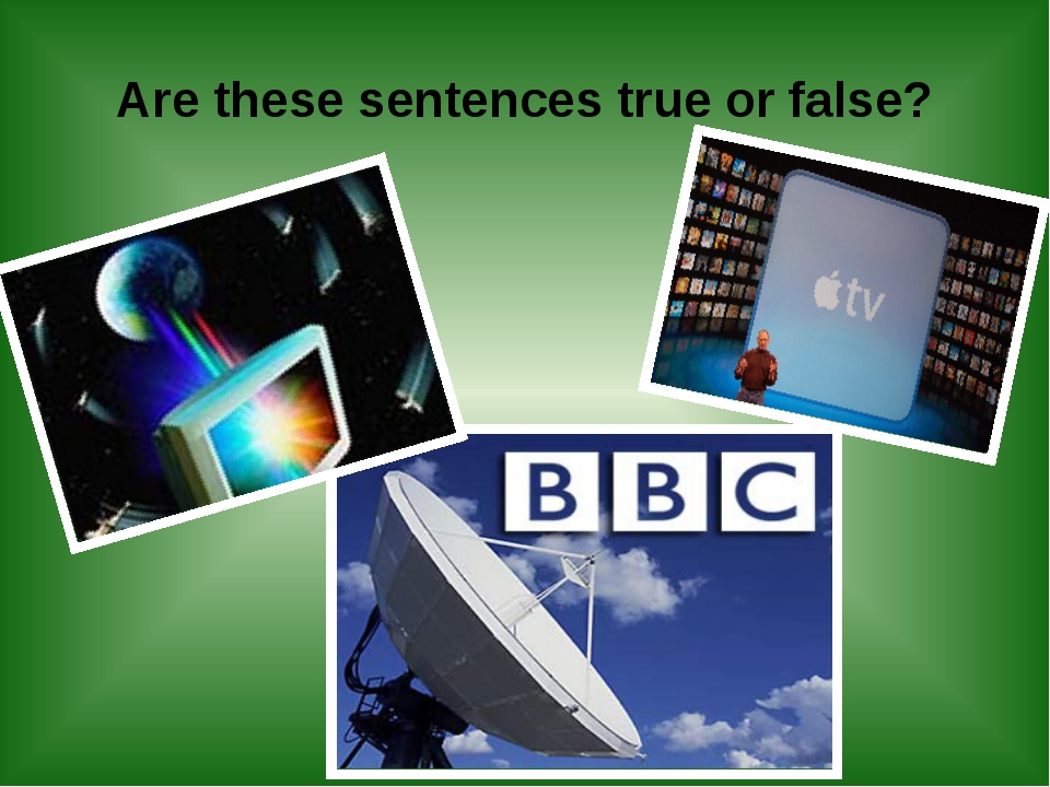 Are these sentences true or false?