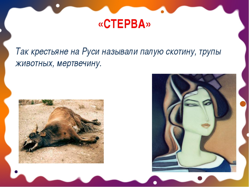«СТЕРВА» Так крестьяне на Руси называли палую скотину, трупы животных, мертве...