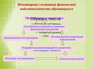 Мониторинг состояния физической подготовленности обучающихся