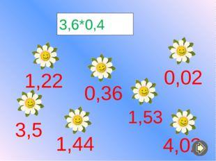 3,6*0,4 1,44 0,36 3,5 1,53 1,22 0,02 4,02