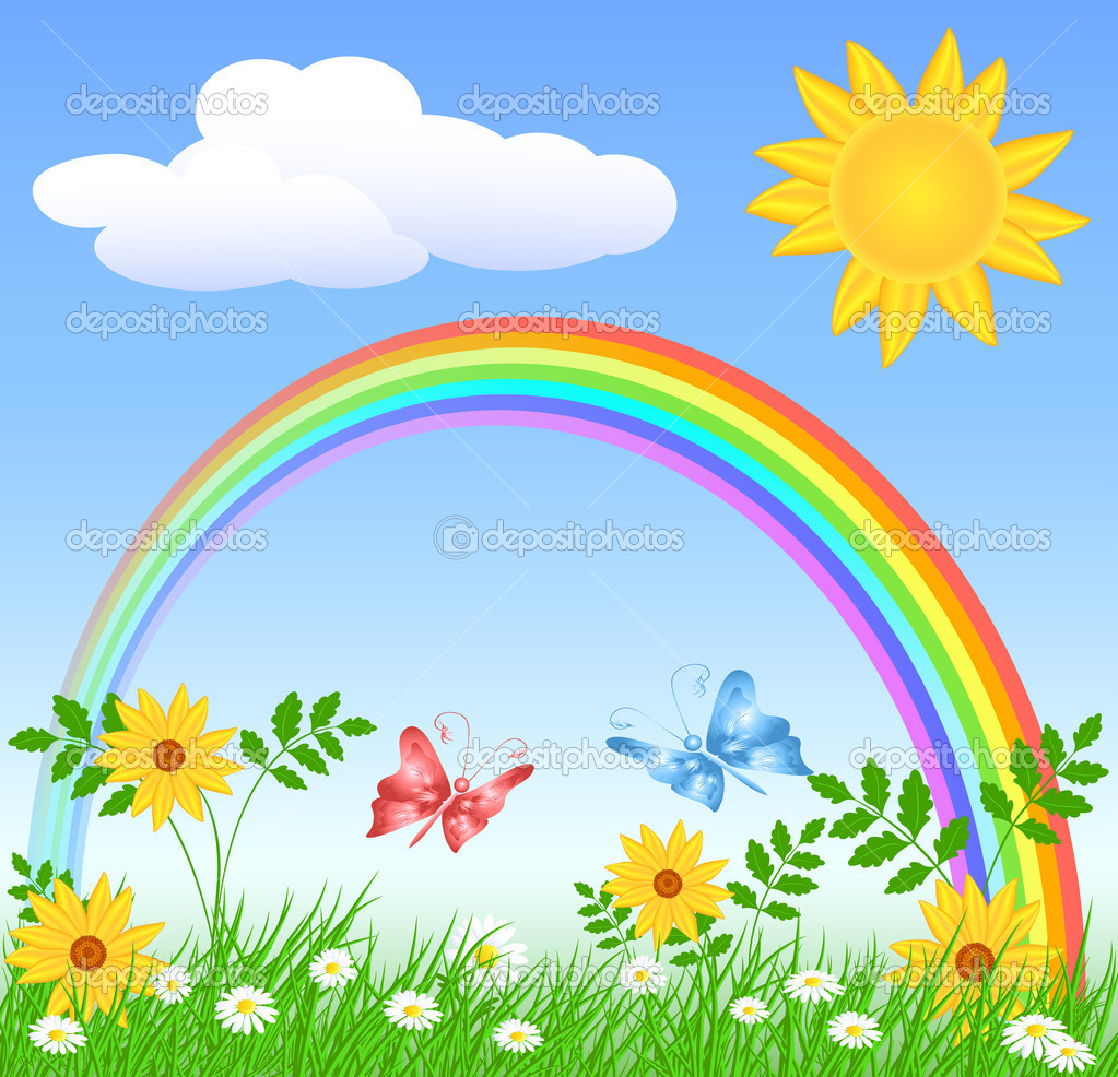 C:\Users\Елена\Desktop\depositphotos_10407990-Flowers-with-green-grass-and-rainbow.jpg