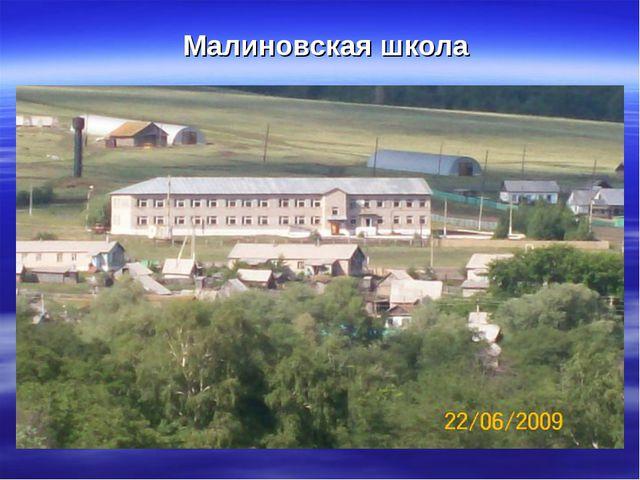 Малиновская школа