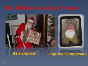 И в Швеции два Деда Мороза Юлтомтен Карлик Юлниссаар