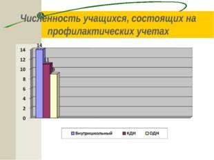 Численность учащихся, состоящих на профилактических учетах