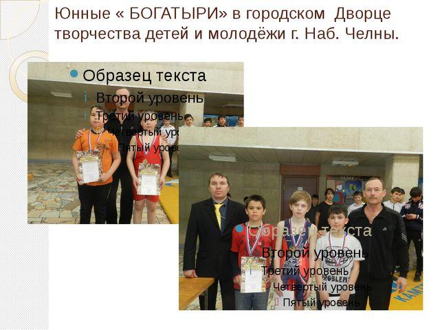 Юнные « БОГАТЫРИ» в городском Дворце творчества детей и молодёжи г. Наб. Челны.