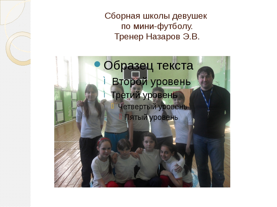 Сборная школы девушек по мини-футболу. Тренер Назаров Э.В.