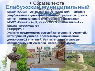 Елабужский муниципальный район МБОУ «СОШ» – 26, из них МБОУ «СОШ №9» – школа