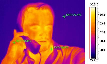 Термограмма человека