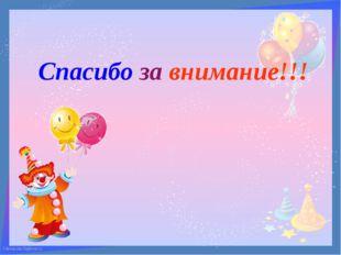 Спасибо за внимание!!! FokinaLida.75@mail.ru FokinaLida.75@mail.ru