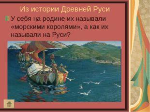 Из истории Древней Руси У себя на родине их называли «морскими королями», а к