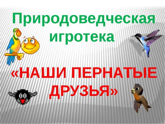 Природоведческая игротека «НАШИ ПЕРНАТЫЕ ДРУЗЬЯ»