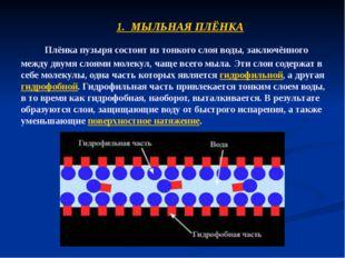 Плёнка пузыря состоит из тонкого слоя воды, заключённого между двумя слоями