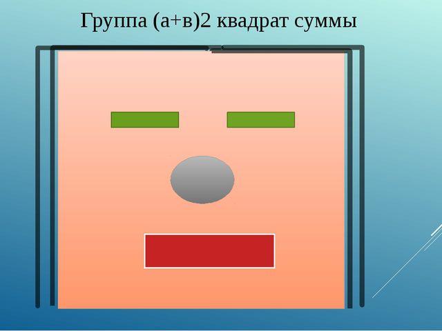 Группа (а+в)2 квадрат суммы