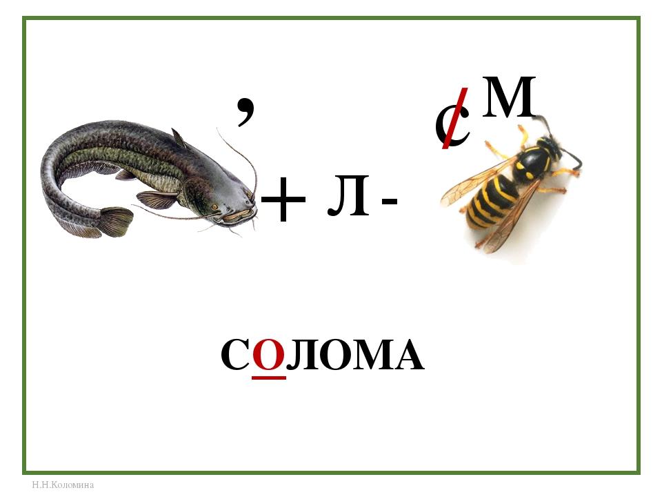 СОЛОМА , + л + с / м Н.Н.Коломина