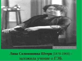 Лина Соломоновна Штерн (1878-1968) – заложила учение о ГЭБ.