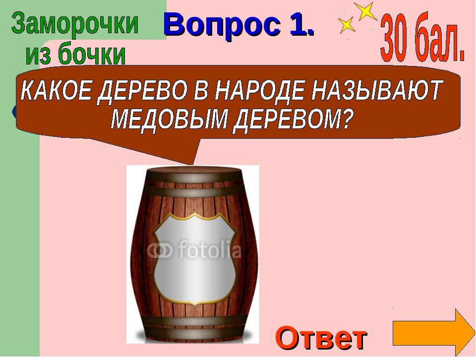 Вопрос 1. Ответ