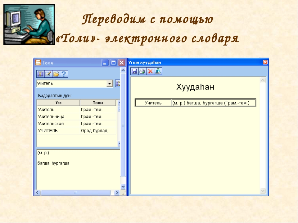 Переводим с помощью «Толи»- электронного словаря