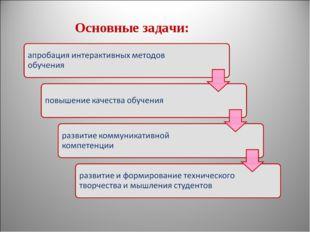 Основные задачи:
