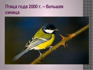 Птица года 2000 г. – большая синица