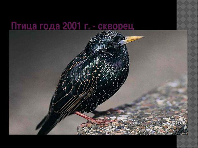 Птица года 2001 г. - скворец