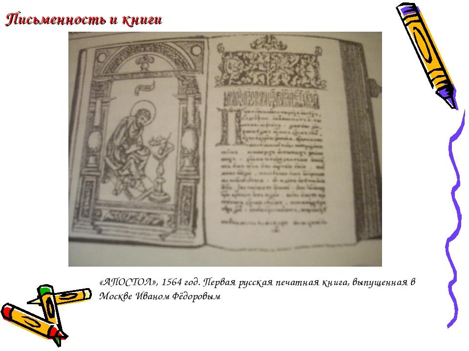 Письменность и книги «АПОСТОЛ», 1564 год. Первая русская печатная книга, выпу...