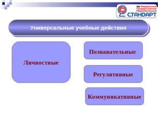 Личностные Познавательные Регулятивные Универсальные учебные действия Коммуни