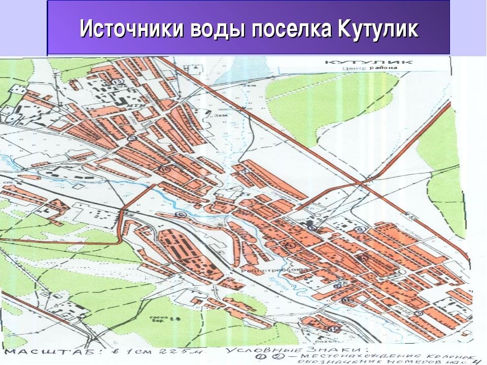Источники воды поселка Кутулик