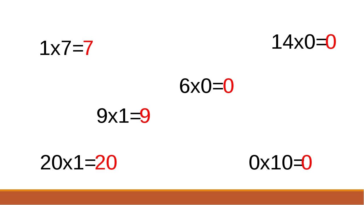 1х7= 6х0= 9х1= 14х0= 0х10= 20х1= 7 0 0 9 20 0