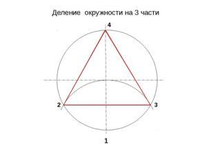 Деление окружности на 3 части 1 2 3 4