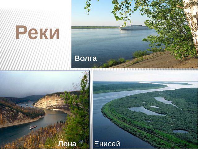 Реки Волга Енисей Лена