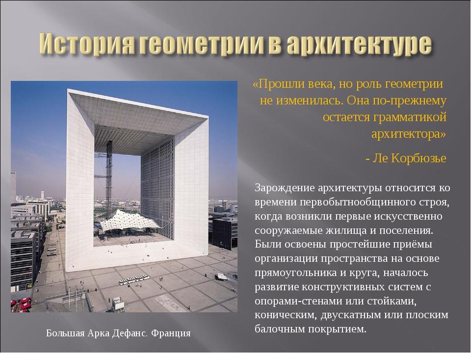 «Прошли века, но роль геометрии не изменилась. Она по-прежнему остается грам...