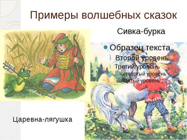 Примеры волшебных сказок Царевна-лягушка Сивка-бурка