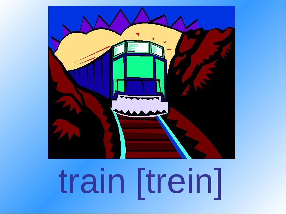 train [trein]