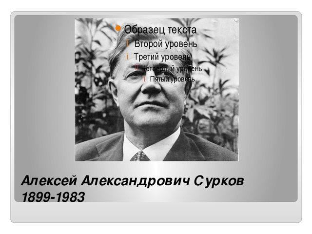 Алексей Александрович Сурков 1899-1983