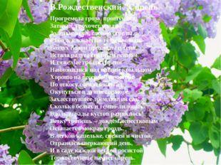 """В.Рождественский """"Сирень"""" Прогремела гроза, прошумела, Затихая, грохочет вдал"""