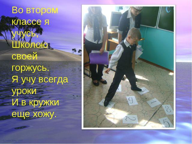 Во втором классе я учусь, Школою своей горжусь. Я учу всегда уроки И в кружки...