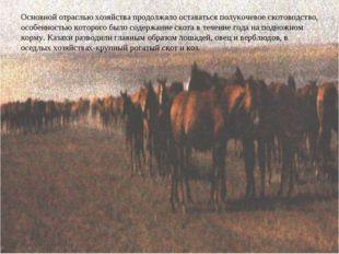 Основной отраслью хозяйства продолжало оставаться полукочевое скотоводство, о